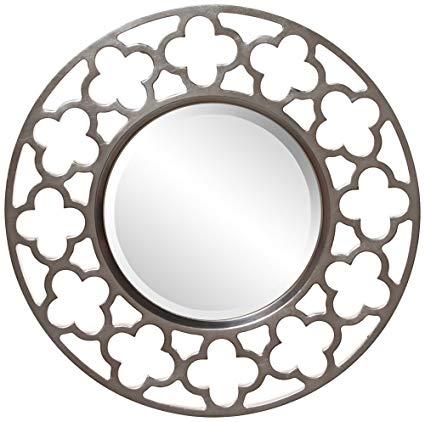 Howard Elliott 92007 Gaelic Round Mirror, Brushed Nickel