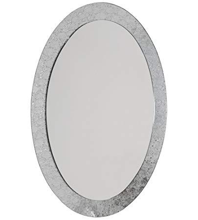 Decor Wonderland Luxor Frameless Oval Wall Mirror