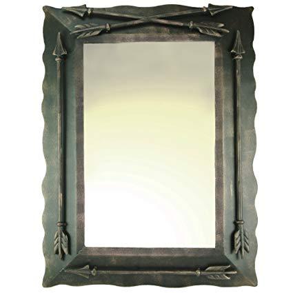 DeLeon Collections Western Metal Arrow Wall Mirror