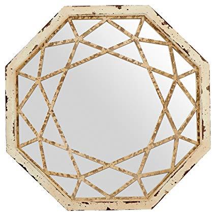 Stone & Beam Vintage-Look Octagonal Mirror, 25.5